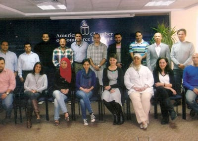 General franchise training at the American Chamber of Commerce in Cairo, Egypt