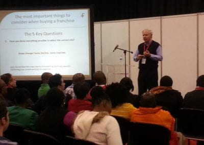 The International Franchise Expo 2013 - Eric Parker talking at the Speakers Corner