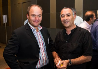 FNB Head of Franchising Morne Cronje with Ashith Sodha