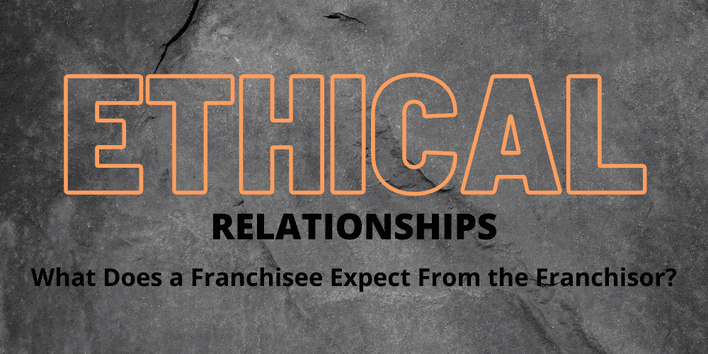 What does the franchisee expect from the franchisor?